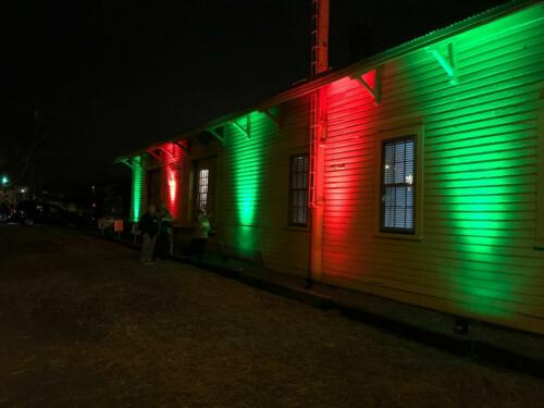 Uplighting - Historic Depot in Rural Hall, NC